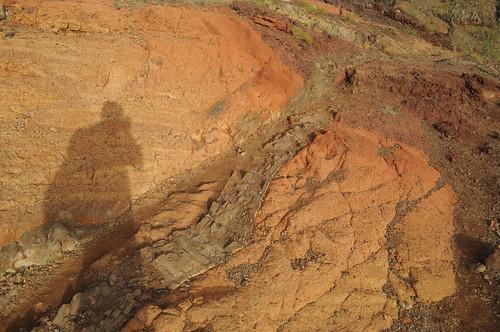 Spectrum of red rock / seam / shadow self-portrait