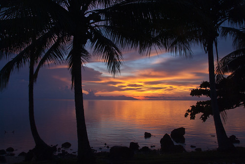 sea beach sunrise papuanewguinea tufi kofure