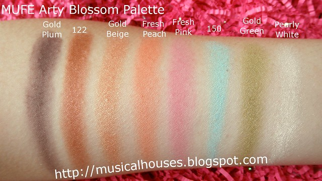 MUFE Arty Blossom Palette swatches