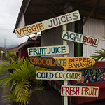 Food stand sign in Hanalei