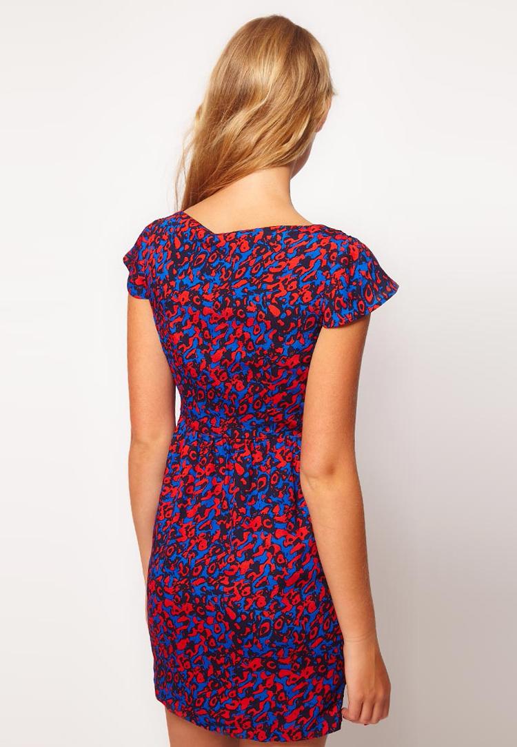 ASOS PETITE Exclusive Tulip Dress In Print
