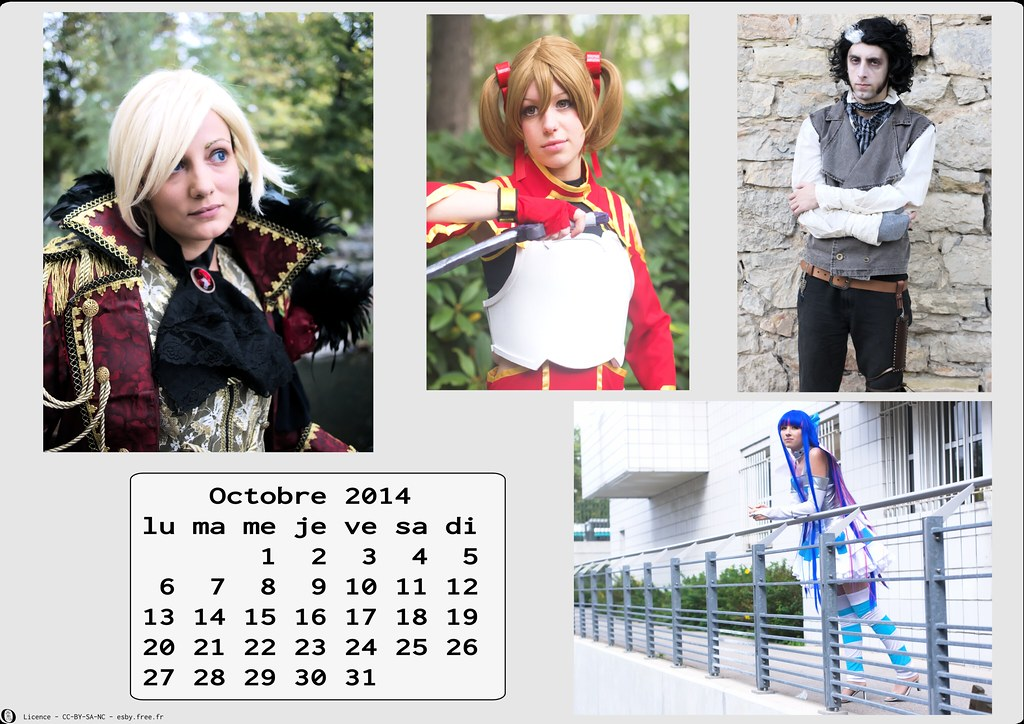 related image - Calendrier Cosplay 2014-10 - Octobre