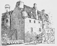This 19th century drawing of Skelmorlie by MacGibbon & Ross, from the same angle as the previous photo, shows how the Victorian wing to the west (right) of the old keep was connected.   Major-General James Montgomerie of Wrighthill, M.P. for Ayrshire lived at the castle for a long period in the ...