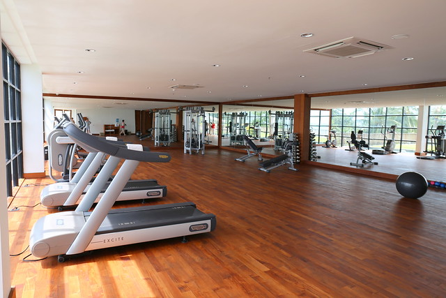 There is an ultra-spacious gym and workout room