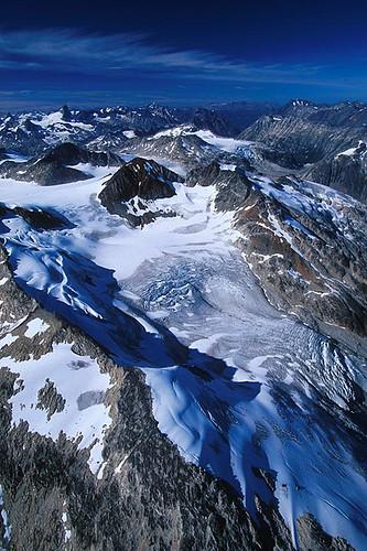 Homathko Glacier, Homathko Icefield, Coast Mountains, British Columbia, Canada