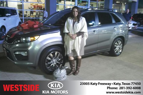 Thank you to Yvonne Southard on your new 2013 #Kia #Sorento from Gil Guzman and everyone at Westside Kia! #NewCarSmell by Westside KIA
