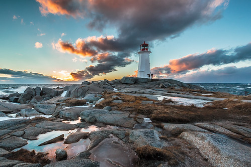 sunset lighthouse canada water clouds waves novascotia ns peggyscove lighthousetrail peggyscovelighthouse peggyspointlighthouse