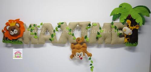 ♥♥♥ Para o quartinho do Maxime que já é todo decorado com o tema animais da selva. by sweetfelt \ ideias em feltro