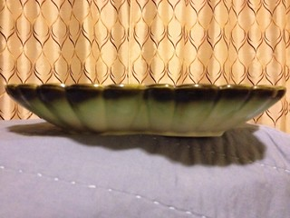 Green Dripware Bowl by Hull #31