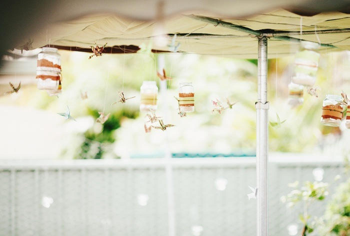 Backyard Wedding - mason jars