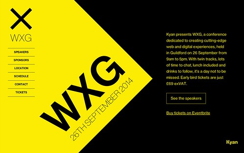A screenshot of the wxg.co.uk homepage.