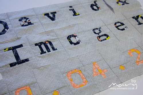 Paper pieced letters and numbers