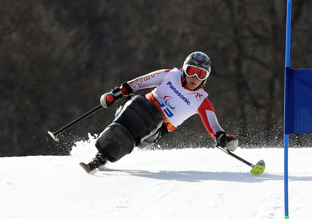 Joines in action during the giant slalom in Sochi, RUS during the 2014 Paralympic Winter Games