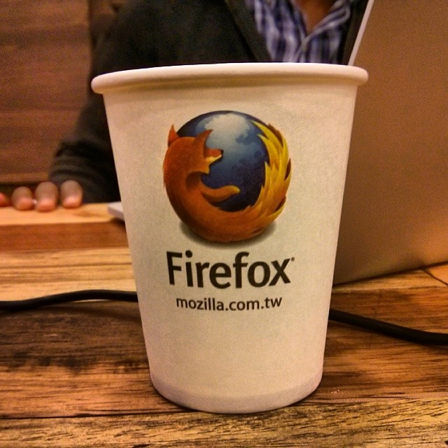 Personalized #Firefox coffee cups.