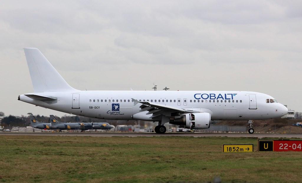 5B-DCY - A320 - Cobalt Air