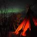 Tipi and Northern Lights