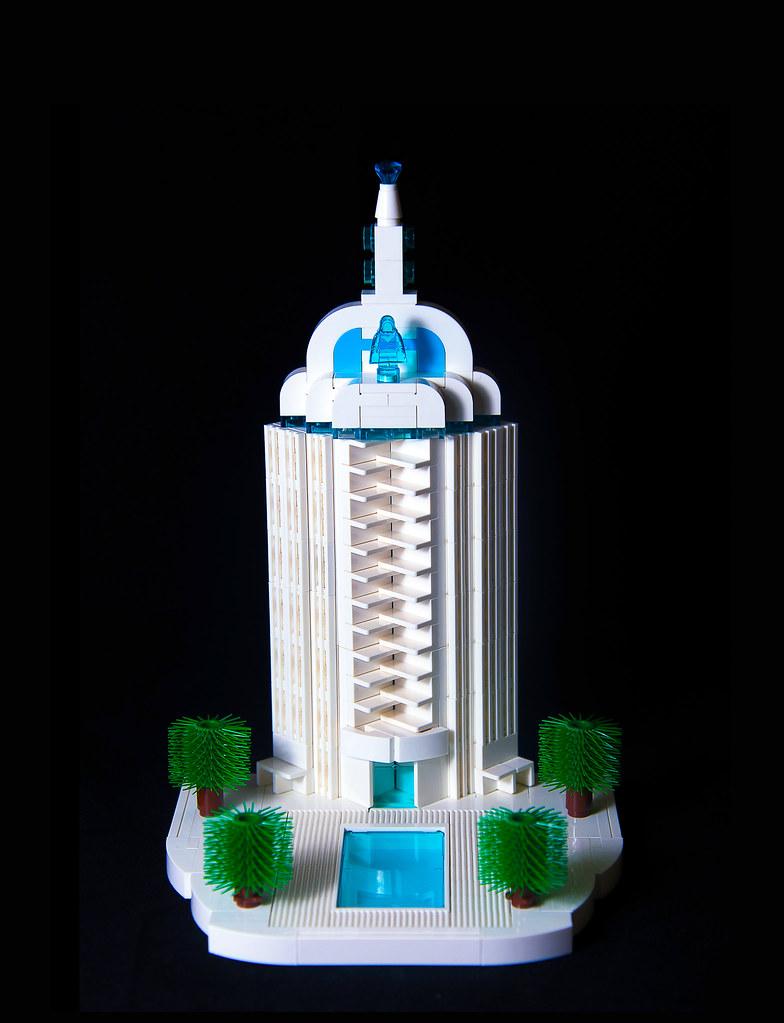 Hotel (custom built Lego model)