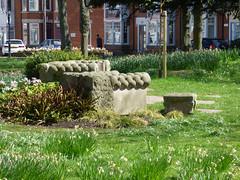 Jubilee Gardens, Rugby - sofa sculpture