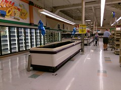Yet another view along the back aisle at the old Hernando Kroger's last day of operation