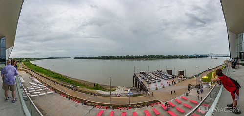 view owensboro ohioriver bridge conventioncenter pier riverfront river occ overcast panorama waterfront pano downtown kentucky usa