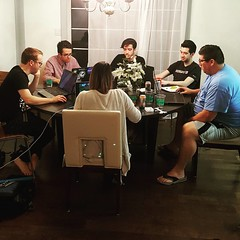 4 sons, 1 daughter-in-law, and a friend, all geeking out on StArCrAfT. #computernerds #starcraft #myguys #myhome #ilovewheneveryoneshere #myfamily #laptopsaplenty