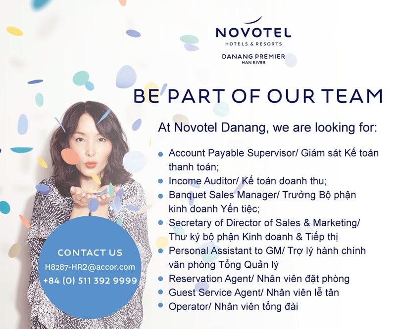 Novotel Danang Premier Han River tuyển dụng (04/2017)
