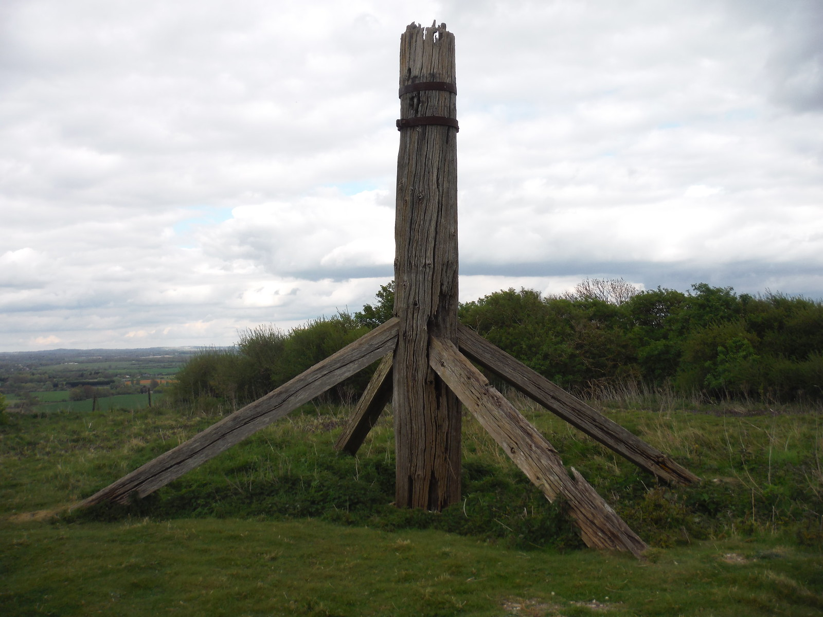 Ringmer Windmill Remnant SWC Walk 272 Uckfield to Lewes