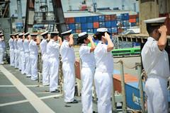 GLC crew on parade awaits EU ambassador arrivals
