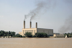 Found Photo - US Unknown Power Plant and Lake or River.tif