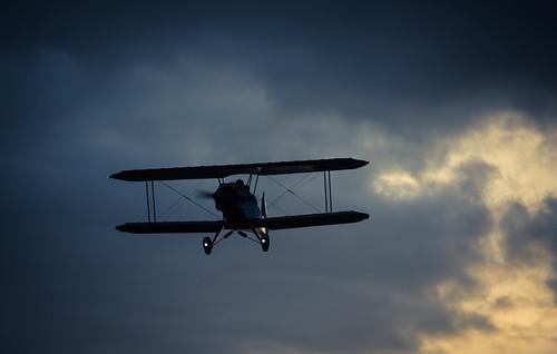 Airplane Kiebitz is approaching airfield