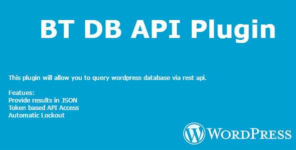 BT DB API WordPress Plugin free download