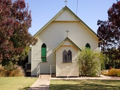 Manangatang. St Patricks Catholic Church  built in this Upper Wimmera town in 1925.