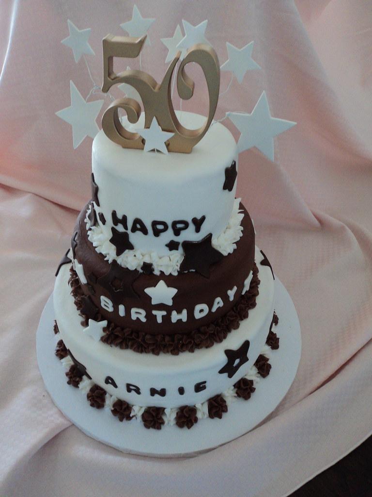 50th Birthday 3 Tier Cake