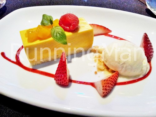 W Hotel Singapore 18 - Mango Mousse Cake, Vanilla Ice Cream, Almond Shortbread Crumb
