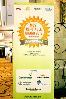 Indonesia Health Care Marketing & Innovation Conference 2013 – Most Reputable Brand .
