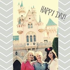 #tbt My hair was short and sis was brunette so I'm thinking this was in '08. Time flies! #disneyland #happiestplaceonearth #goodmemories #abeautifulmessapp