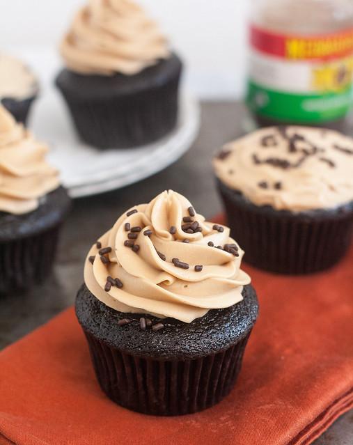 Ganache-Filled Mocha Cupcakes