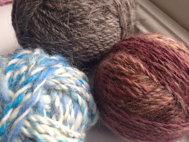 Handspun yarns 1, 2 & 3 - definite progress!