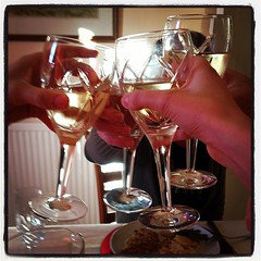 Early Father's Day Celebrations #cheers #whitewine #wine #instafood #instagood #onthetable #family