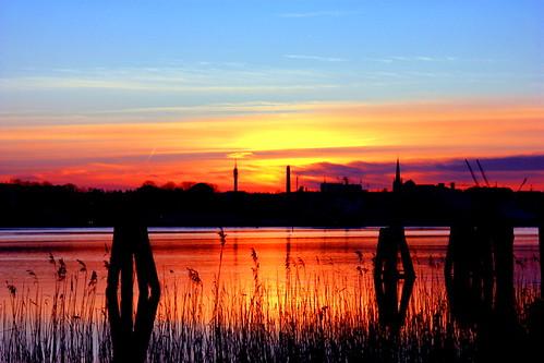 Sonnenuntergang in Rostock 05