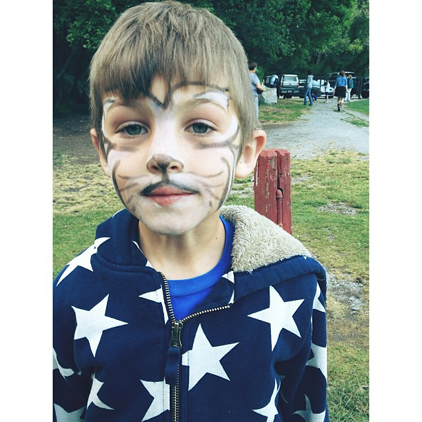 His first face paint. There was drama. #vscocam #afterlight