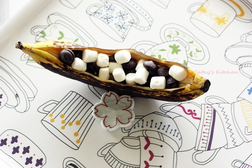 香蕉綿花兒一條船 Grilled banana 7