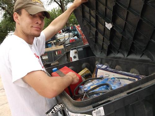 Brandon checking in box
