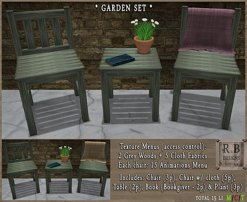 RnB Garden Set - Old Grey Woods