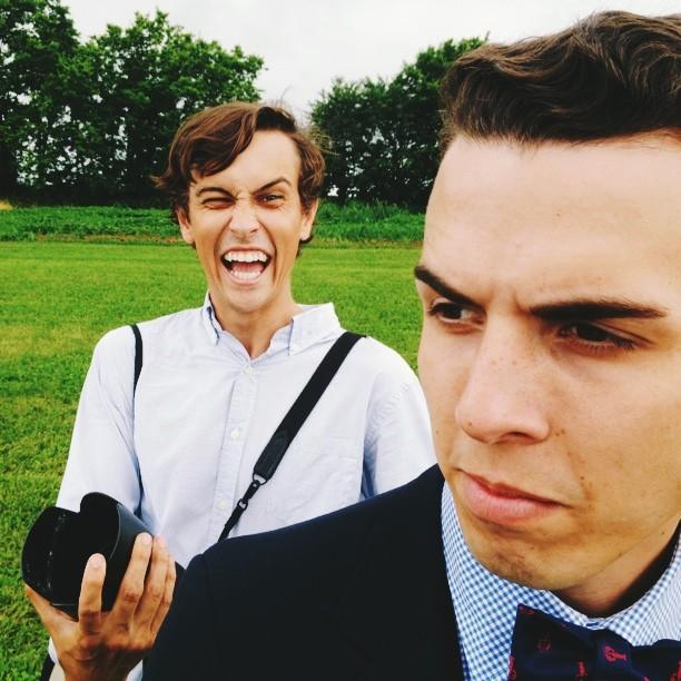 Wedding shenanigans. #benjaminandshelby