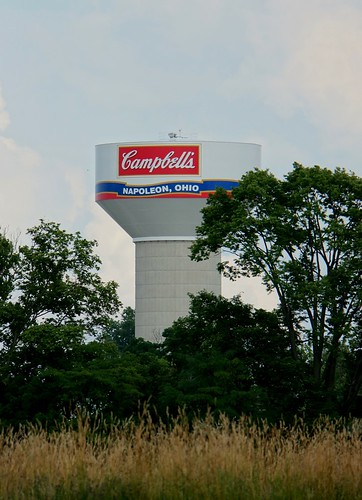 Giant Campbell's Soup Water Towerb- Napoleon, Ohio