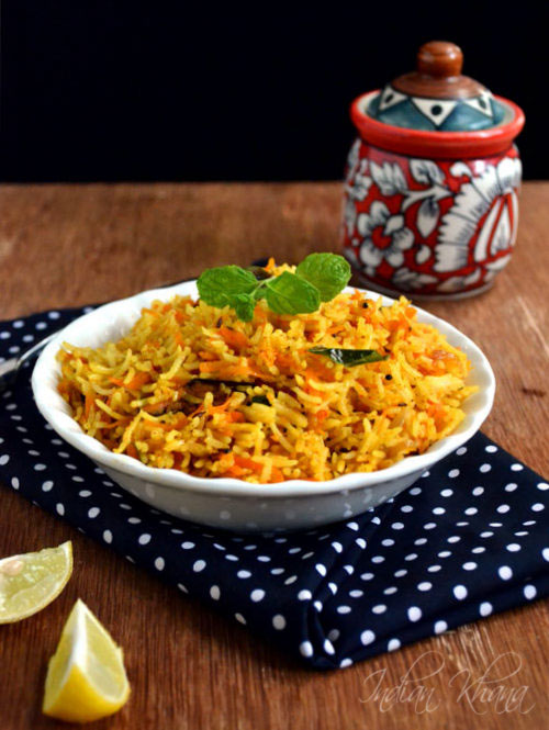 Carrot Rice Recipe Lunch Box Recipes
