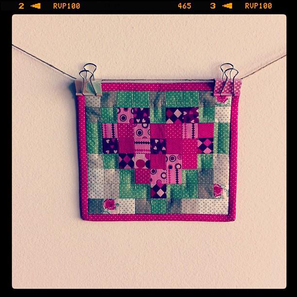 Pixel Heart Mug Rug