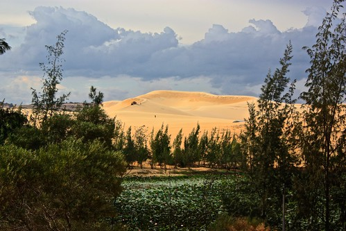 a peak of the white sand dunes of Mui Ne