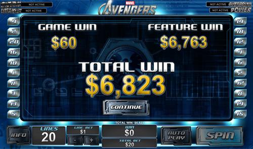 free The Avengers bonus prize